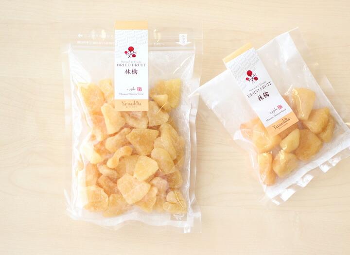 信州産のりんご。りんごの王様「ふじ」を使った贅沢なドライフルーツ