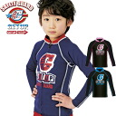 Kids rash guard GETUP get up kids wet jacket ZIP / zipper GWT-33100 rash guard / rash guard kids / swimsuit / kids swimwear / rash guard kids long sleeve / rash guard sleeve / uv / fit
