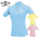 WaterMove ウォータームーブ ladies UV cut full zip jumper WFJ-30100 rash guard / rash guard ladies / swimwear / swimsuit ladies / rash guard ladies short sleeve / rash guard short sleeve / flows