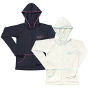 ReefTourer Leafs healer ladies rush Parker ZIP zipper black tlgy7 loose RashGuard / rash guard long sleeve / rash guard ladies / rash guard ladies long sleeve / rash guard hoodies and hood with