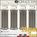 Createion Ion Hot Curler Curler S Size(About W25×H66mm)×4p、Butterfly Clip×4p≪Hot Curler≫『4988338221198』