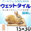 Cool one wet tile-15 × 30 no leg-for pet cooling tile mat rabbit ferret cage size water only in the cold. Pleasant exhilaration on the brink do survive in this ヒエヒエ summer heat against intense heat is! Rabbit heatstroke? s patent registration products.