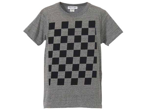 5°CHECKER 染込プリントT-shirt NAVY