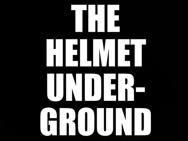 発泡プリント THE HELMET UNDERGROUND T-SHIRT BLACK