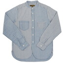 NIGEL CABOURN by Nigel carbon TUNIC SHIRT STRIPE SAX BLUE