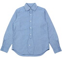 NIGEL CABOURN by Nigel carbon British officers shirt BRITISH OFFICERS SHIRT SAX BLUE