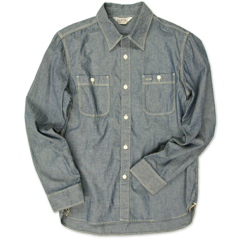 [FIVE BROTHER]L/S CHAMBRAY WORK SHIRTS