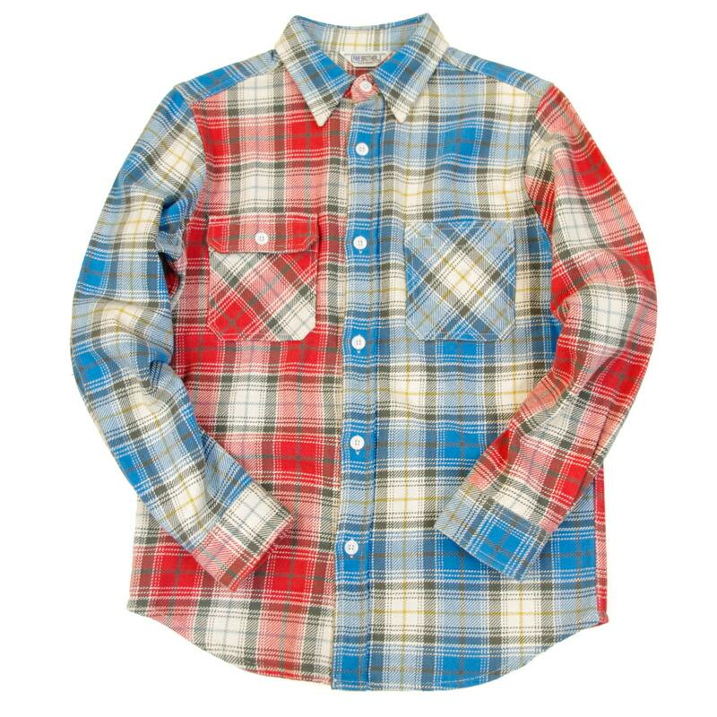 [FIVE BROTHER]エクストラヘビーネルクレイジーワークシャツ