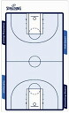 SPALDING (Spalding) basketball article coaching board