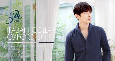 イタリアンカラーが男の魅力を惹きたてるきれいめシャツ。