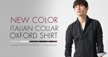 Buyer's Select/オックスイタリアンカラー長袖シャツ 新色2色追加