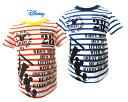 Disney Baby 미키 빈티지 프린트 국경 반 소매 T 셔츠