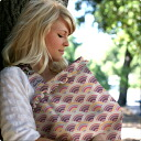 정규 대리점 상품 세련 된 디자인으로 인기! BeBeaulait ベベオレ의 자매 브랜드 ♪ HooterHiders 주름 청구 수 유 커버 (ナモツピンク)