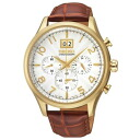 Reimport Seiko SEIKO SPC088P1 CLASSIC classic chronograph mens leather watch wristwatch leather belt