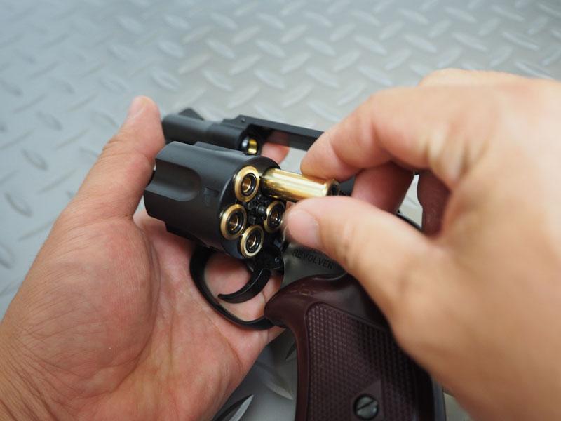 マルシン工業 6mmBBガスリボルバー ポリスリボルバー 2インチ ブラックABS Xカートリッジ仕様