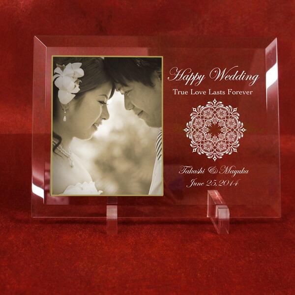 結婚記念 メモリアルガラスプレート