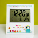 Digital clock set & hung surprise birthday for both radio controlled clock (original printing) 10P30Nov13