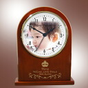 For baby kids Memorial wooden table clock arch type (watch) the first Festival, 100 days celebration, 七五三 Memorial 10P28oct13