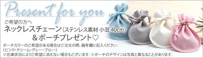 40cmチェーン&専用ポーチプレゼント!