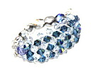 Beading accessories-Swarovski luxury three-ring (Montana AB & Crystal)