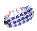 Beading accessories-Swarovski luxury three-ring purple velvet & Alexandrite