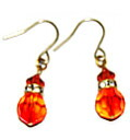 Accessories beads Swarovski fire opal earrings