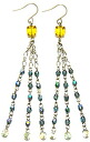 Czech beads and beading accessories-Swarovski earrings (lime & Montana)