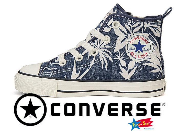 CONVERSE CHILD ALL STAR N ALOHASHIRTS Z HI ネイビー キッズスニーカー 子供靴