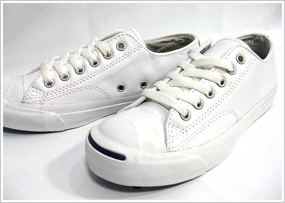 ����С��� �쥶�����ˡ����� �쥶������å��ѡ����� �ۥ磻�� CONVERSE LEA JACK PURCELL