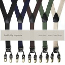 Suspenders Y-double clip/mens & ladies / plain / color: Black Brown Navy & green beige and casual business