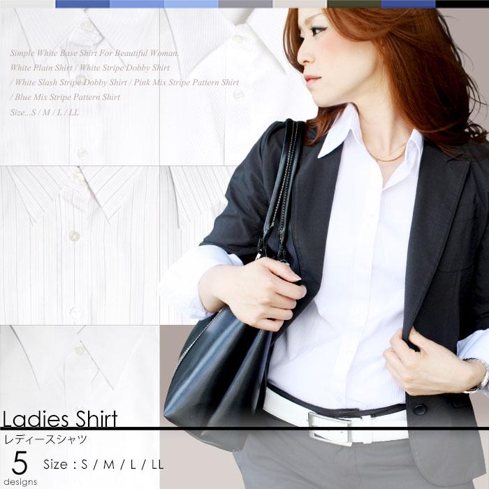 レディース ワイシャツ(白シャツ)・ブラウス レディース小物もスタイルイコール