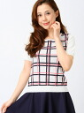 The CLEAR IMPRESSION check pattern short sleeve knit clear impressions