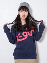 X-girl [선행 주문] * VARIOUS SWEAT CREW NECK TOP 빅스 여자