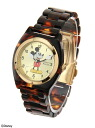 BEAUTY & YOUTH UNITED ARROWS BYSF tortoise shell pattern watch /DISNEY