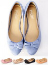 glifeed almond toe ribbon flat pumps