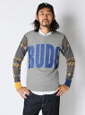 HAOMING RUDO JACQURD KNIT SLEEVES CREW