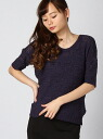 CECIL McBEE inner with watermark short sleeve knit Cecil McBee