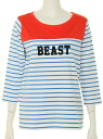 RODEO CROWNS BEAST horizontal stripe seven minutes sleeve T-shirt