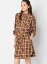 coen Cohen fluorescence flannel shirt-dress
