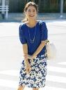 Debut de Fiore prior orders * embroidered × devuedfiore knit chiffon sleeve pull-over