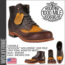Wolverine WOLVERINE 1000 mile wing chip boots W06000 1000MILE ADDISON WING TIP BOOT men's Wolverine