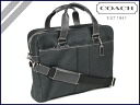 Coach COACH 6CM signature ハドソンコミューター 2-way Bag Black 6 CM SIGNATURE HADSON COMMUTER BAG BLACK