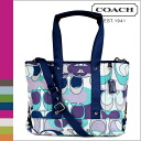 Coach COACH tote bag 2-Way multi Daisy scarf print women's