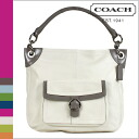COACH handbag White x gray Penelope leather buckle Hobo