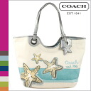 Coach COACH tote bag multi-color Beach star motifs ladies