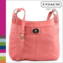 Coach COACH shoulder bags coral Penelope leather hippie ladies