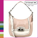 Coach COACH shoulder bag 2-Way シェルパーチメント Christine spectator leather Hobo ladies