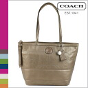 Bronze stitch metallic women's coach COACH tote bag