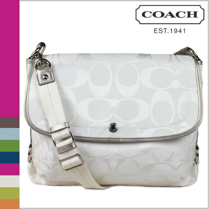 Coach Silver Signature Logo Shoulder Bag 96