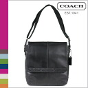 Coach COACH mens Messenger Bag Black Gramercy leather map bag